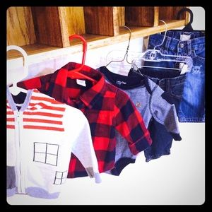 Baby gap lot of 5 pieces 3-6mo jeans plaid sweater